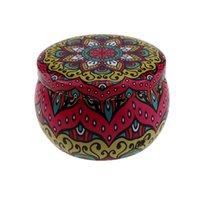 Tambor redondo Superficie Tarjeta de vela Caja de hojalata Caja de jarra de hierro Concentrado de cera Patrones de embalaje de pestañas Patrones Multi Patrones Custom 1 55SSS B2