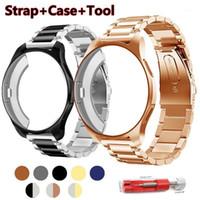 Reloj Bands Correa + Caso 20 / 22mm Banda para Samsung Gear S3 Frontier Strap Galaxy 46mm 42 Acero inoxidable TPU PROTECTIVO PROTECTIVED CASE1
