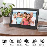 LCD Widescreen Digital Photo Frames Eletrônico Picture Video Player Álbum de Filme HD Display Pictures Frame com controle remoto