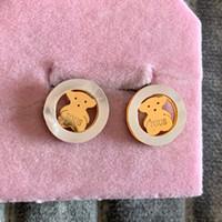 Heißer Verkauf Top Qualität 316L Edelstahl Gold Silber Rose Nette Mädchen Ohrring Deluxe Frauen Tropfen Ohrringe Modeschmuck Großhandel