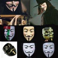 V для маски vendetta белая черная желтая маска с подводкой для глаз ноздри анонимный парень fawkes причудливый костюм для взрослых Хэллоуин партия маска VT0771