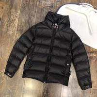 Moda Nuovo di alta qualità piumino degli uomini di Simple con stampa di marchio bianco e nero due colori caldo e leggero Giacca MC