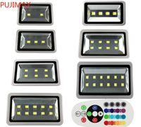 200 Вт RGB светодиодные прожекторы водонепроницаемый 100W 150W 300W 400W 500W 600W светодиодные светодиодные светильники светодиодного ландшафта AC 110-240V с контролем