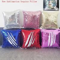 Neue Sublimation Magic Pailletten leere Kissenbezüge heißer Transferdruck DIY personalisierte kundenspezifische geschenke großhandel 6 kolours 40 * 40cm