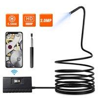 5.5mm Wifi Endoskop Kamera 1080 P HD Teleskoping Yarı-Sert Yılan Kameralar IOS Android Için 1 M USB Endoskop Borescope