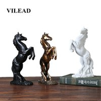VILEAD 12.4'' Resin Horse Statue Living Room Crafts Decorative Ornaments Creative Home Horse To Successful Opening Lucky Gifts T200330
