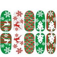 Xmas Nail Style modello Sticker Natale Tipo Chiodi Art Decor Manicure Stickers Snowflower Christmastree Signora bella manicure Suggerimenti 1ot L2