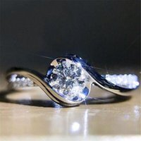 Exquisite fashion temperament shiny zircon ladies engagement...
