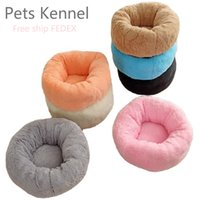 Plush Cushion deep sleep round kennel winter pet supplies wh...