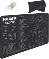 코튼 면봉과 헝겊을 청소하는 Kosse 총 청소 매트, 라이플 총기 유지 보수 공구 소총 용 유성 안티 슬립 인쇄 매트