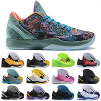 Yeni Siyah Mamba VI 6 Prelude Tüm Yıldız MVP Spor Ayakkabı Mamba 6 Yeşil Siyah Erkekler Basketbol Ayakkabı