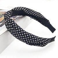 Fashion Elegante Cross Knot Ploth Art Wide Fandbens Stretchy Floral Striped Hair Bands per le donne Girls Accessori per capelli Accessori Capodanno Q Jlllfy