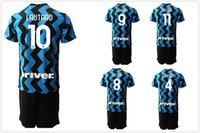 Personalizzato 20-21 9 Lukaku 7 Alexis 12 Sensi Soccer Jerseys con pantaloncini 77 Brozovic 8 Vecino 6 de Vrij 23 Miranda Custom Soccer Wear Football