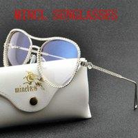 2020 ترف الماس موضة النظارات الشمسية للنساء أنيق الطيار مصمم المرأة نظارات شمسية نظارات شمسية ماركة البهجة FML