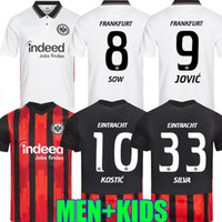 2020 2021 Eintracht فرانكفورت لكرة القدم الفانيلة هينتيريججر أندريه سيلفا كامادا كامادا كاماديك جوفيتش 20 21 كرة القدم الرجال والأطفال قميص