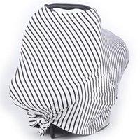 Szaliki 2021 Dziana wiosna Zima Winter Scarf Paski Ciepłe damskie Casual Wielofunkcyjny Luźny Round Neck Shaw Poncho Cape T-shirt