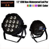 TIPTOP TP-P109 NOUVELL ARRIVÉE 12X18W RGBWA UV 6IN1 LED Silent PAR Light non imperméable IP20 Pas de bruit de travail Cas d'aluminium PAR CANS