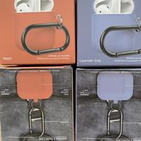 Nuevo Earphone Funda para Apple Airpods 1 2 Caso Cubierta de silicona para Airpods Auriculares Earpods Auriculares Hook Caja de carga A prueba de golpes