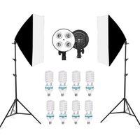 صور الاستوديو 8 LED 150W Softbox Kit التصوير الفوتوغرافي الإضاءة كيت كاميرا صور الملحقات 2 ضوء حامل 2 Softbox للكاميرا 1