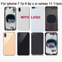 Arka gövde kapağı veya iPhone 7 7P 8 8 Plus X XR XS XSMAX 11 11pro max Arka Kapak Orta Şasi Çerçevesi
