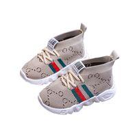 Оптом детская обувь противоскользящая мягкая нижняя детская кроссовка повседневная плоская кроссовки обувь дети размера девушки мальчики спортивные туфли