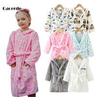 Dessin animé peignoir d'enfants printemps automne enfants dormir vêtements beaux manches longues filles et garçons peignoir vêtements pour enfants 2-8 ans lj201216