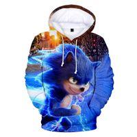 3 до 13 года Дети Толстовки Sonic The Hedgehog 3d печати Толстовка Толстовка Мальчики Девочки Harajuku с длинным рукавом пальто куртки Подростка Одежда