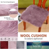 Multi Colors Warm Hairy Wool Carpet Seat Pad Faux Sheepskin Chair Cover Long Skin Fur Plain Fluffy Area Rugs Washable