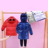 Jaquetas de inverno de menino 90% pato para baixo jaqueta casaco bebê meninos meninos crianças eyewear para baixo casaco crianças calorosas casacos lj201202