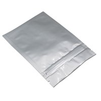 913 cm Düz Çanta Zip Saf Alüminyum Folyo Paketi Temizle Depolama Korumalı Koku Gıda Ambalaj Torbaları Geri Dönüştürülebilir Gümüş Mylar Ön H BBYJI GMHOI