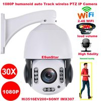 CamHi 30X زووم بصري لاسلكي واي فاي 1080P كاميرا 2MP الناس المسار سيارات SONY IMX 307 PTZ سرعة قبة الكاميرا IP MIC رئيس 128GB