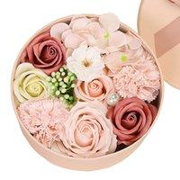 Scatola di regalo di fiori di sapone artificiale Scatola regalo San Valentino giorno mamma giorno di fidanzamento festival regalo decorazione floreale rosa