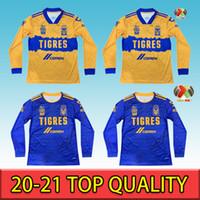 4XL LIGA MX 2020 2021 Tigres Uanl manches longues Soccer Jerseys 7 étoiles Gignac Home Away 20 21 Football