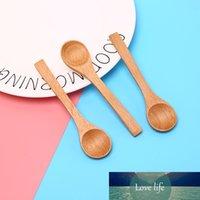 1 stück holz runde bambus löffel suppe tee kaffee salz löffel marmelade scoop diy küchenwerkzeug