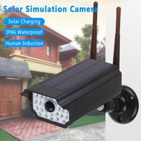 Webcams Wireless Outdoor Solar LED Light Simulation Camera Garden Garage Induction Lamp Two Way Audio Night Vision Home Security