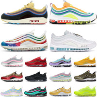 Nike Air Max 97 Hot Sale Sean Wotherspoon 97 Mens Running Shoes armaxairmax Triplo Preto Prata 97s bala Homens Mulheres Sports Sneakers
