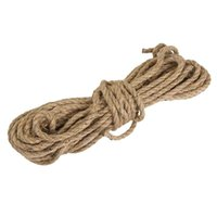 Fil 6mm Jute String Twine Twisted Hessian Câble pour artisanat 15m