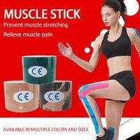 Cotovelo joelho pads 4 tamanho 5m esporte elástico fita elástica kinesiologia atlética cintando ginásio tênis tênis corrida cuidado esportes