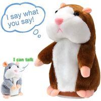 Nuevo Talking Hamster Mouse Pet Pet Llush Toy Hot Lindo Hablar Sound Sound Record Hamster Educational Juguete para niños Regalos 15 cm 201212
