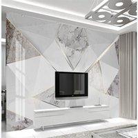 пользовательские фото обоев Геометрического современного минимализма творческого абстрактного мрамора обои 3d обои стереоскопических