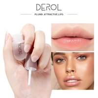 DEROL 립 세럼 플럼 퍼 액체 립 글로스 줄 착색 보습 핑크 입술 케어 립 오일 섹시한 플럼 롱은 0262 뷰티 부드럽게 지속