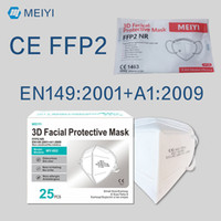 FFP2 قناع CE شهادة ماسكي الاتحاد الأوروبي وايتيليست قناع الوجه PM2.5 المضادة للضباب الضباب والأنفلونزا الماسكاريلا Reusable 5 طبقات Mascherina