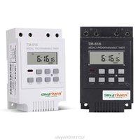 Temporizador electrónico digital Interruptor de temporizador 220V 30A Montaje de riel 17 Configuración 7 días Semanal Controlador de relé programable J09 21 Dropshipping