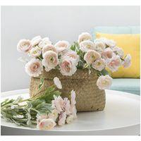 Artificial Ranunculus Asiaticus Decorazione di nozze Flower Flower Simulazione di seta Fiore fiori artificiali per H Jlldef BDEBAG