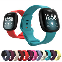 Renkli Bilezik Bilek Kayışı Fitbit Versa 3 Akıllı İzle Bandı Fitbit Sense Bileklik Spor Yumuşak Silikon Askıları Büyük / Küçük Boyutu