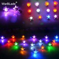WBL 매력 LED 귀걸이 빛 위로 스타 빛나는 크리스탈 스테인리스 귀 드롭 라운드 스터드 귀걸이 쥬얼리 여성 바 나이트 클럽 파티