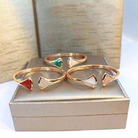 Europa Amerika Mode Dame Frauen Messing Mutter der Perle Onyx-Karneol-Einstellung Diamant Rose Gold offenes Armband