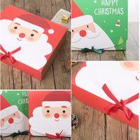 ورقة عيد الميلاد هدية مربع كارتون سانتا كلوز صناديق تغليف حفلة عيد الميلاد لصالح صندوق حقيبة كيد كاندي عيد الميلاد لوازم SEA SHIPPIG AAF2728