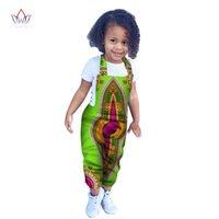 Roupas étnicas 2021 verão crianças africanas Dashiki conjunto de algodão tradicional correspondência África impressão para crianças brw wy29661