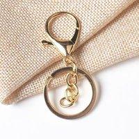 Yeni Gümüş Altın Biger Istakoz Toka Ton Anahtar Zincirleri Anahtar Yüzük Yuvarlak Bölünmüş Anahtarlık Araba Anahtar Yüzükler Boş Metal Anahtarlıklar HWB2256